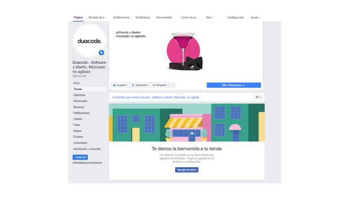 Crear una tienda en Facebook
