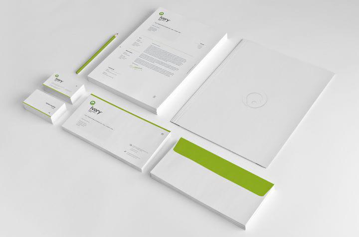 Diseño papelería corporativa para cliente