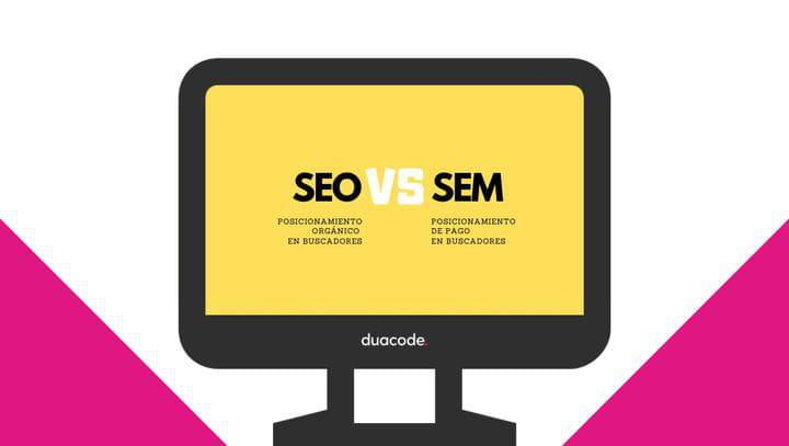 SEO y SEM como estrategias de posicionamiento. Icono PC designed by Freepik from www.flaticon.com